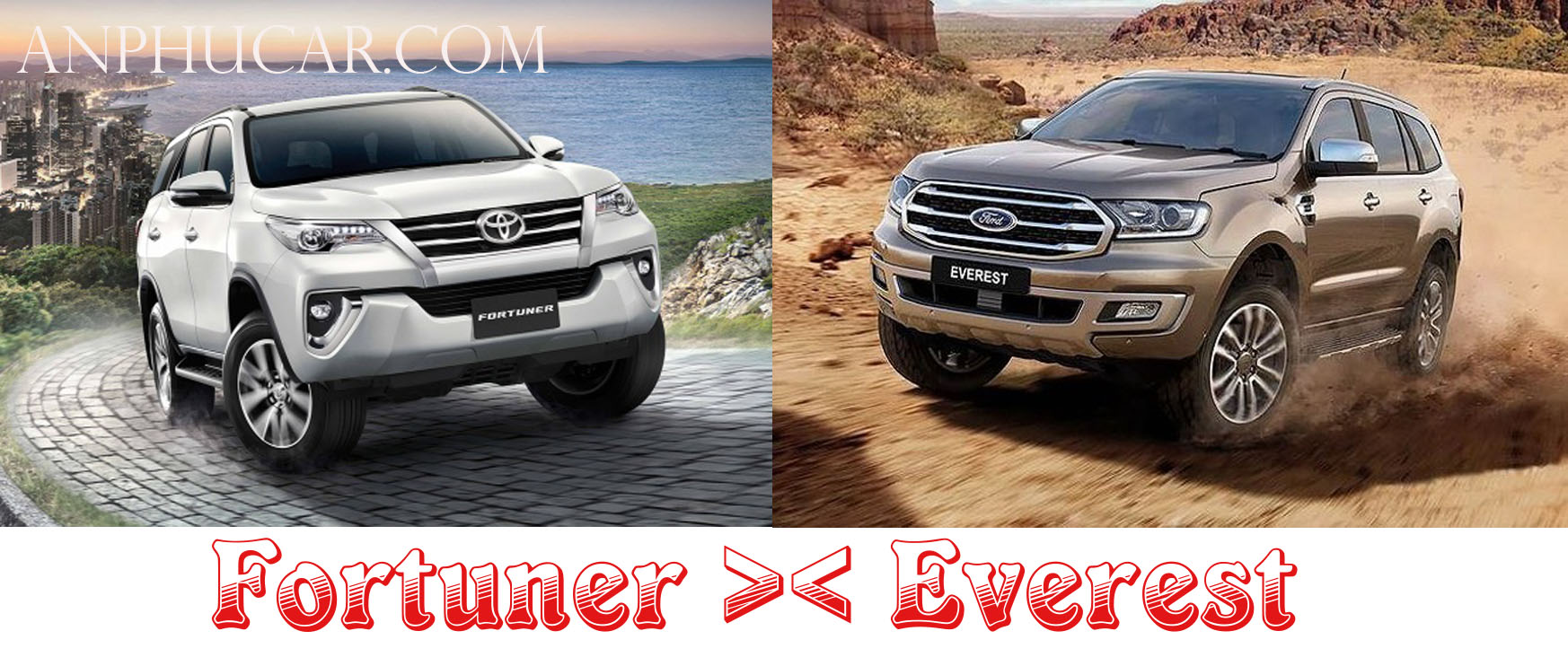 so sanh ford everst 2019 và toyota 2019